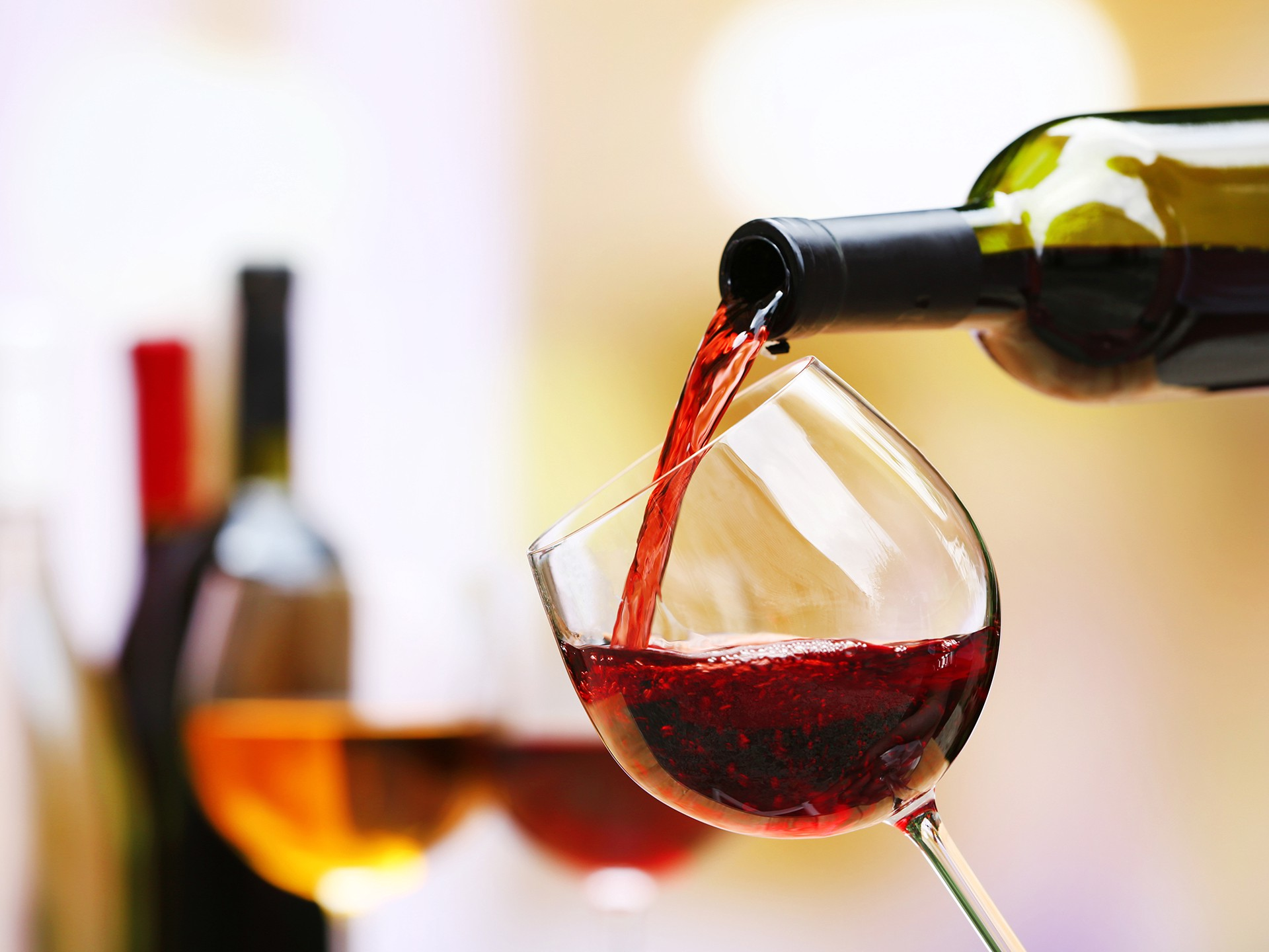 les verres de vin