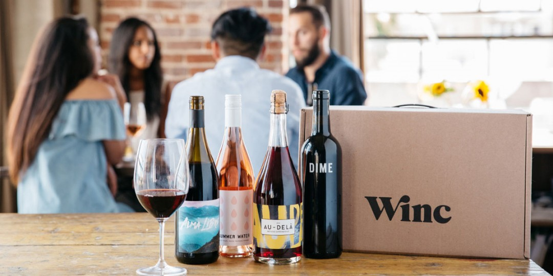 Online wine subscription box: Winc