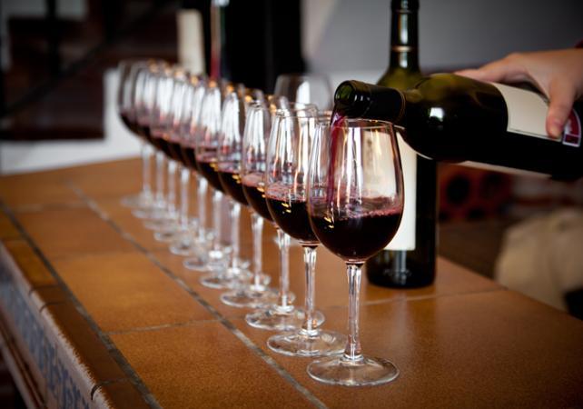 Service de verre pour une dégustation de vin