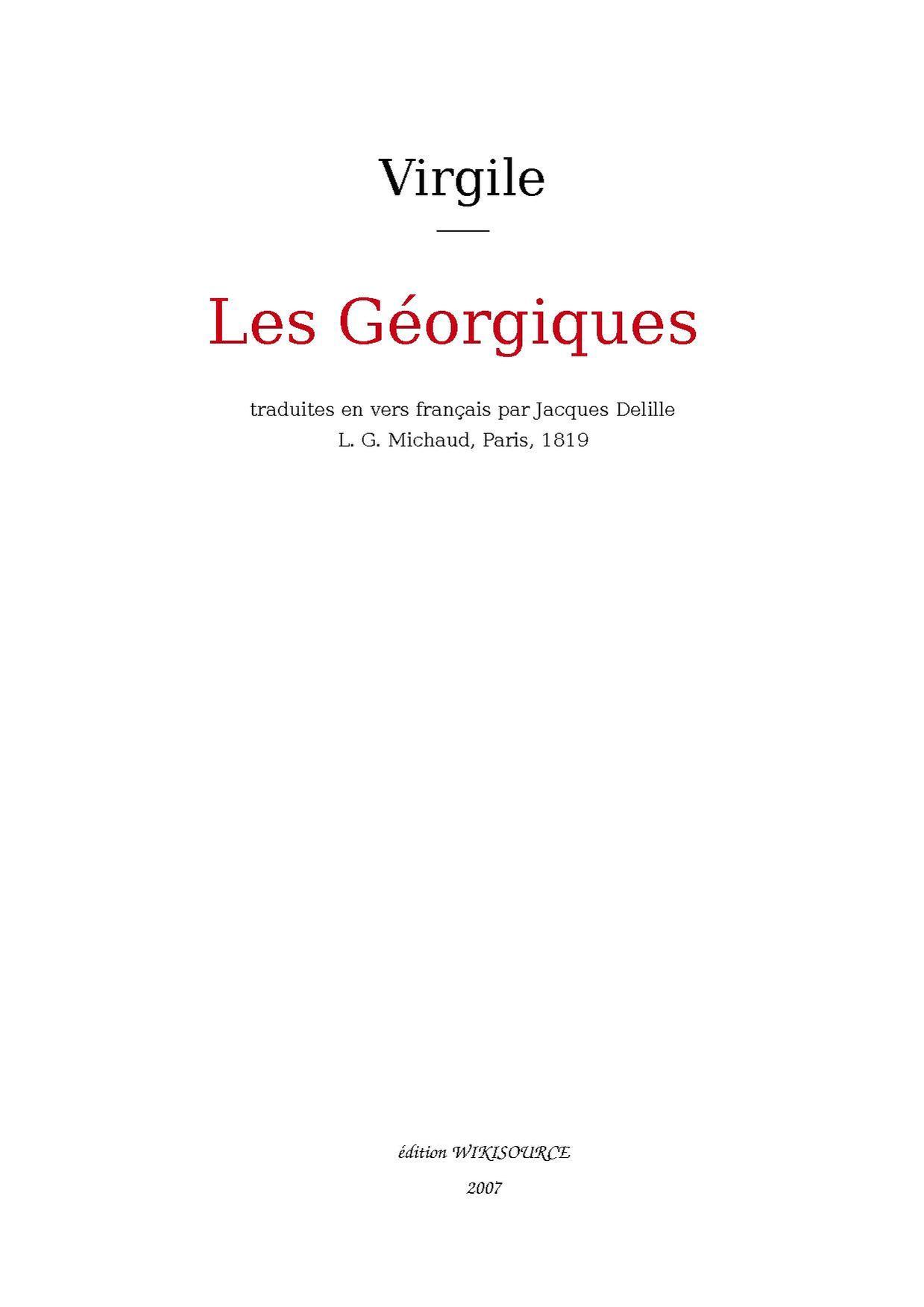 Les georgiques, poésie de Virgile