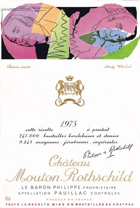 étiquette de Mouton-Rothschild par Andy Warhol en 1975