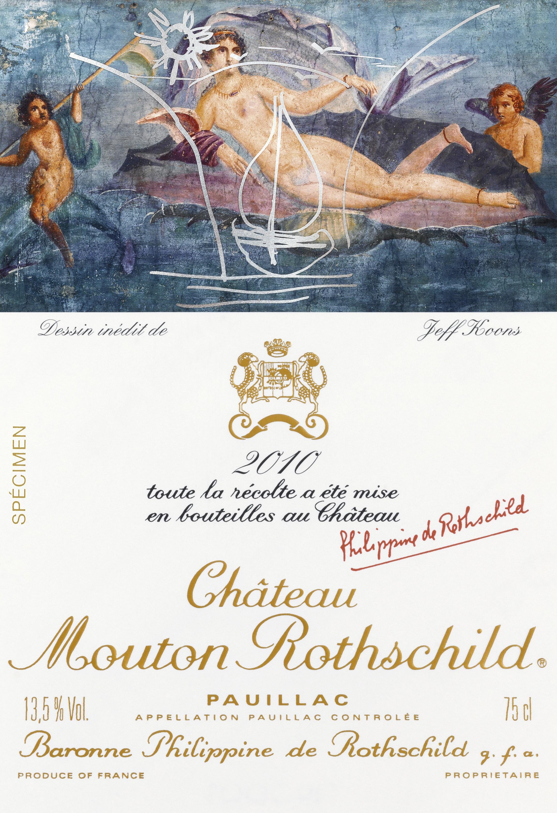 étiquette de Mouton-Rothschild par Jeff Koons en 2010