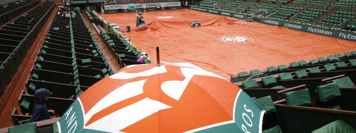 Roland-Garros sous la pluie