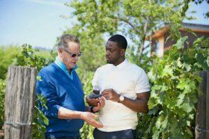 Dwayne Wade in his vinyard