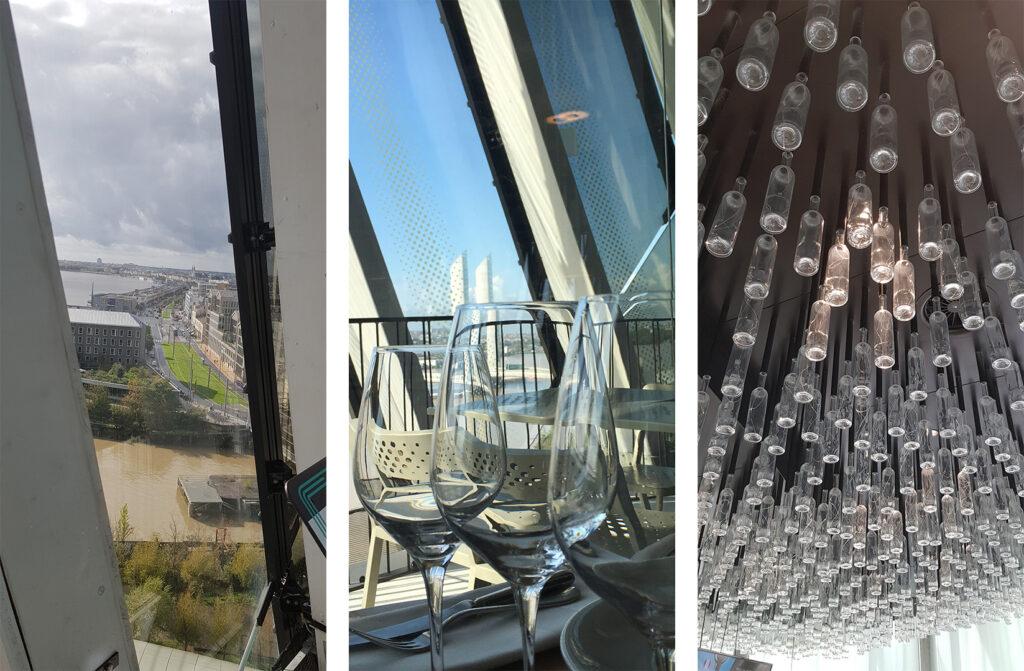 Vue panoramique du dernier étage et du restaurant le 7