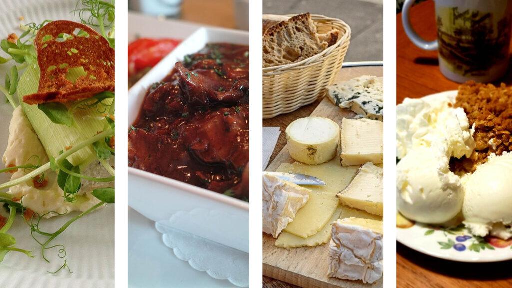 Le repas gastronomique à la française (entrée plat fromage dessert)