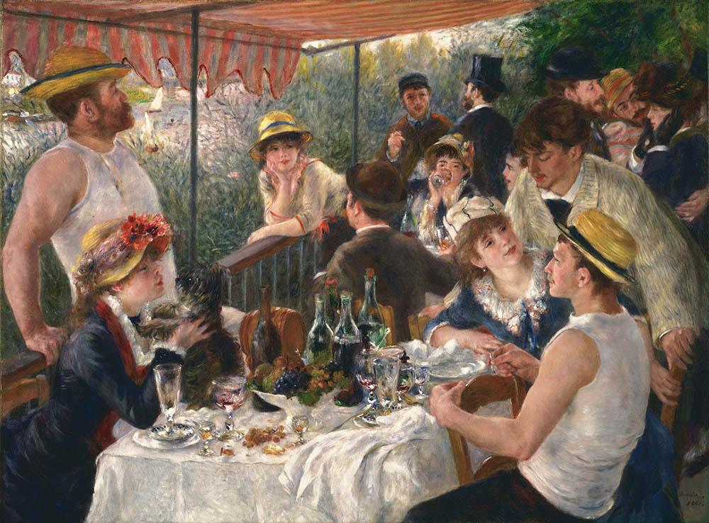 Frenc art de vivre : Le déjeuner des canotiers - Auguste Renoir