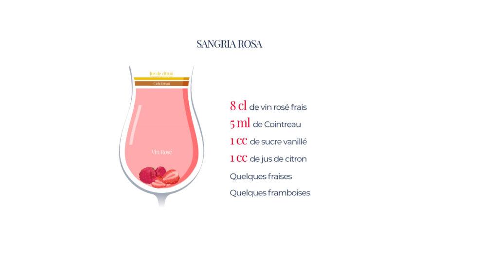 La sangira Rose, a base de vin rosé bien frais