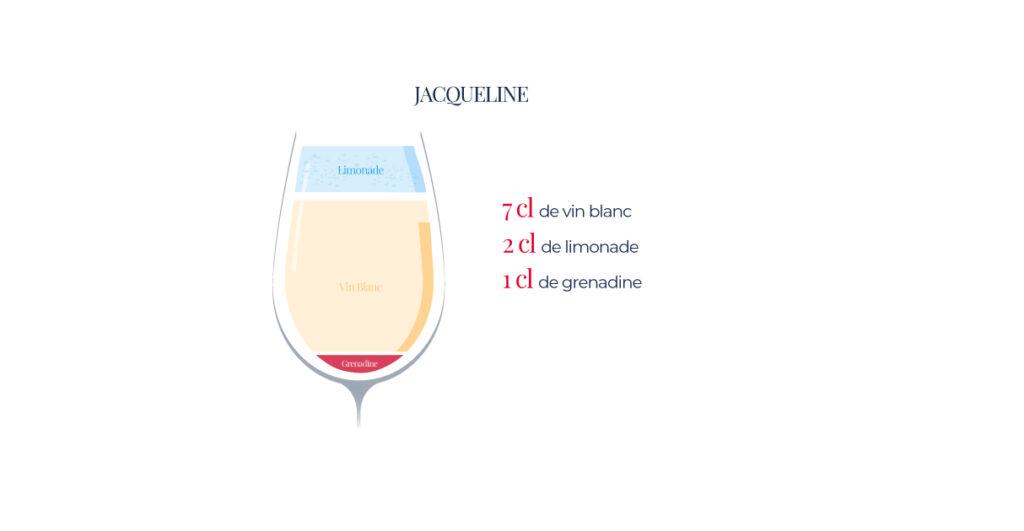 """Le """"Jacqueline"""" cocktail à base de vin blanc"""