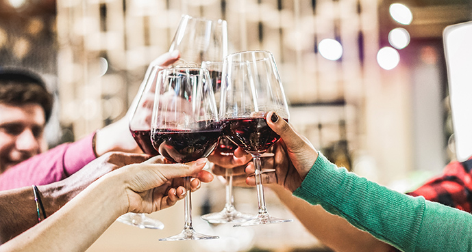 Party with red wines