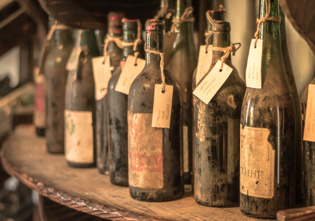 Old bottles of wine to invest