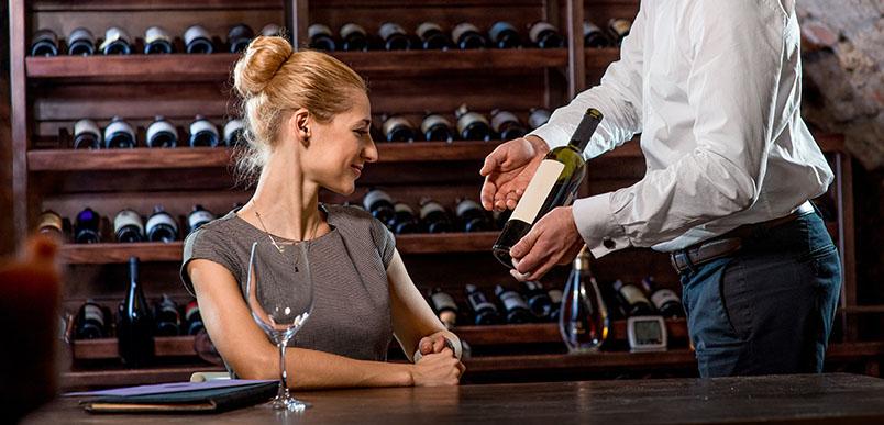 Women choose wine
