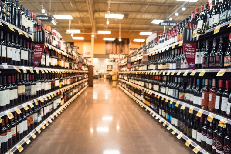 Wine fairs in supermarket