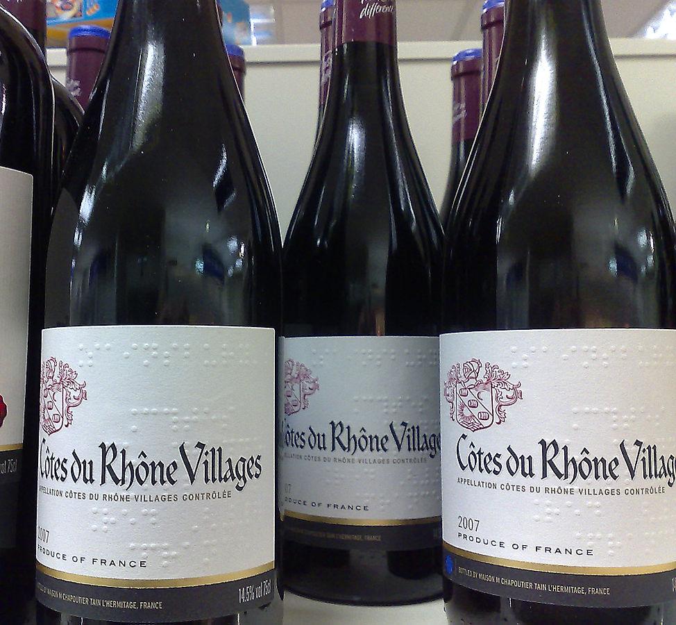 Etiquette de vin en braille