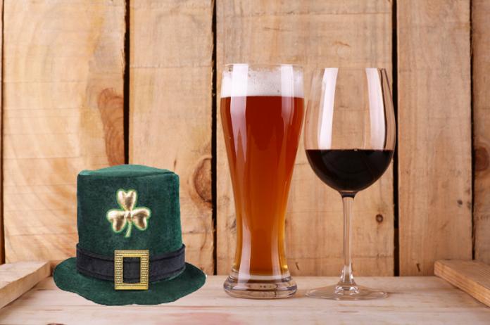Vin et bière St Patrick