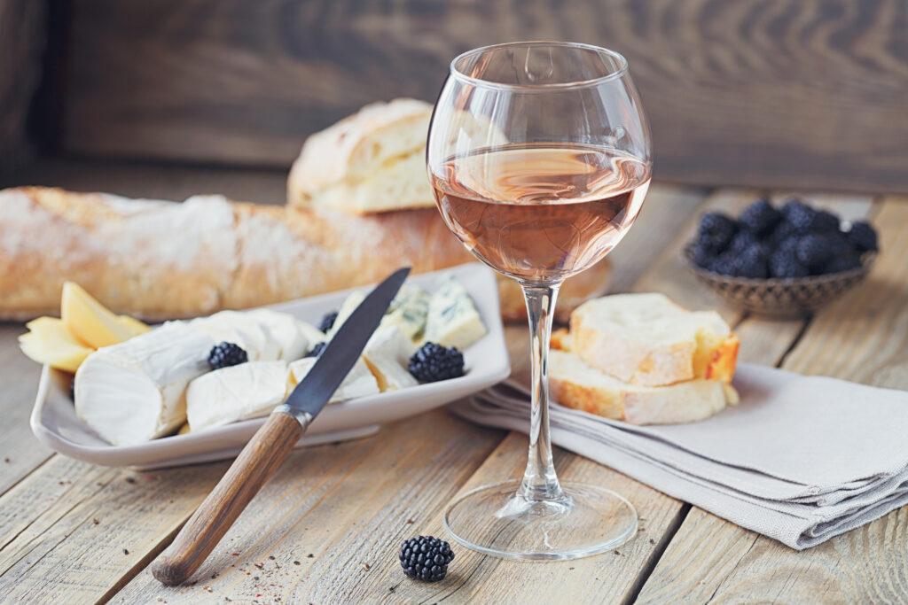 Rosé wine at brunch