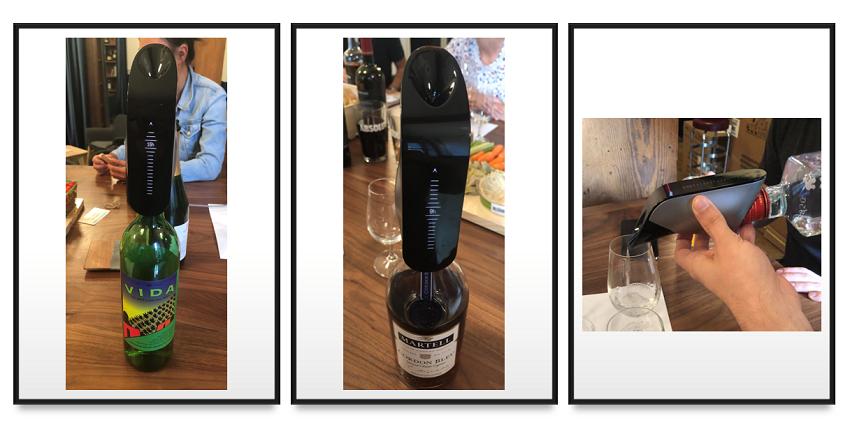 Aveine aerates wine but also Mezcal, Cognac, Rum...