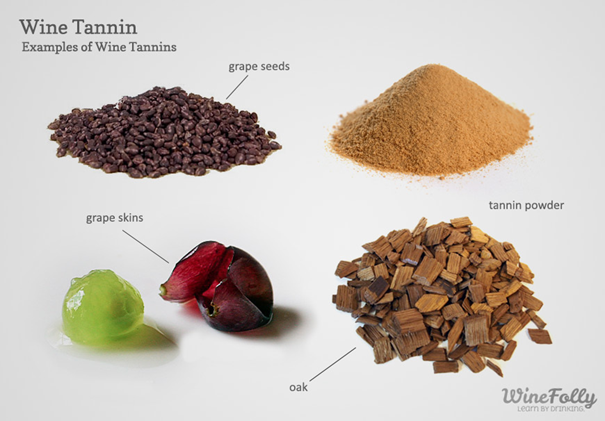 Examples of wine tannins