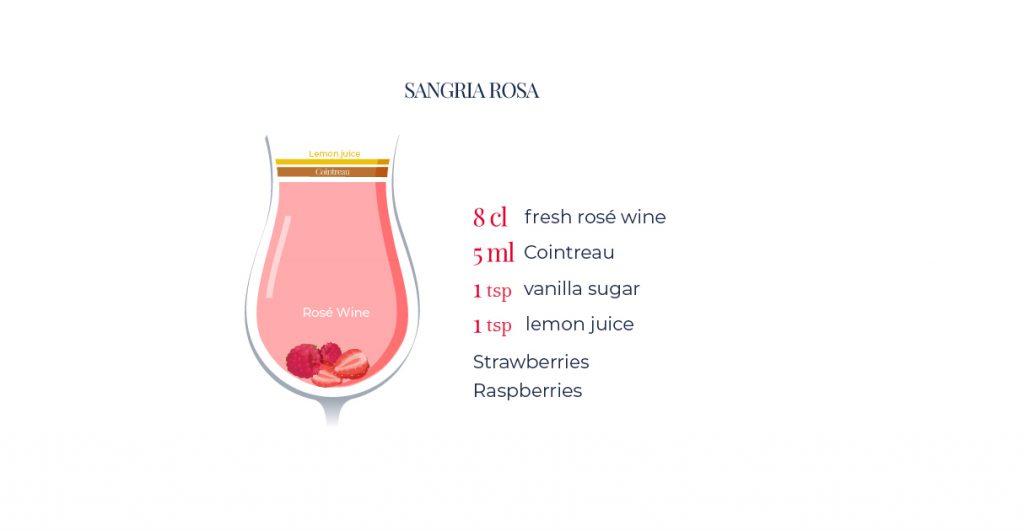 Rosé wine-based cocktails: Sangria Rosa