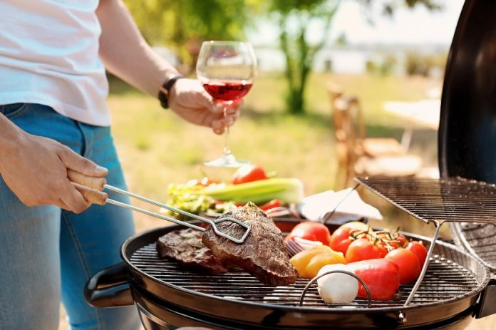 Vin et barbecue