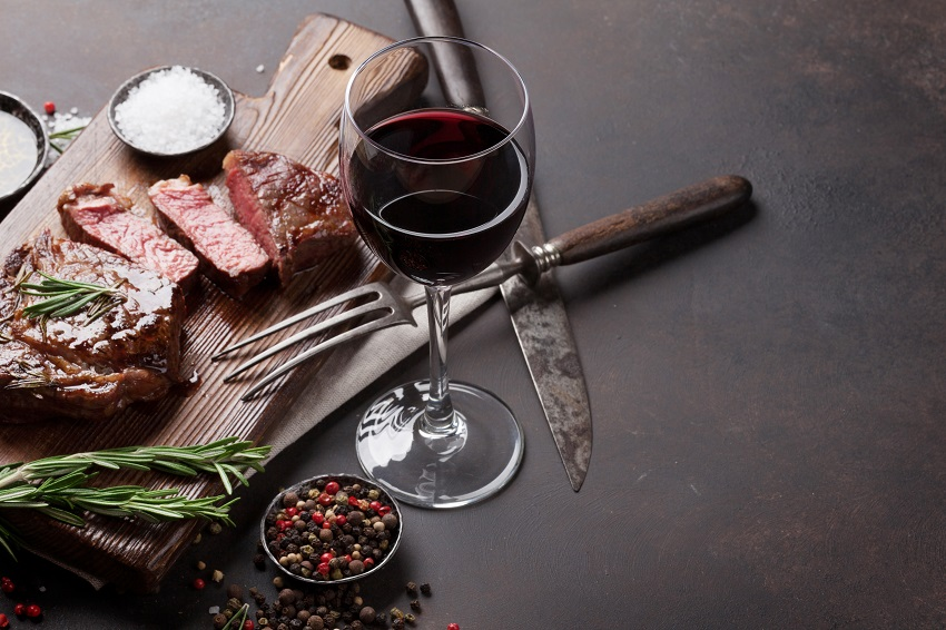 Beef and red wine